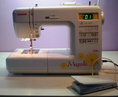 Sew machine for web