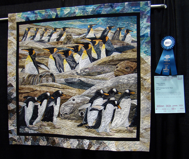 Penguin quilt nancy brown