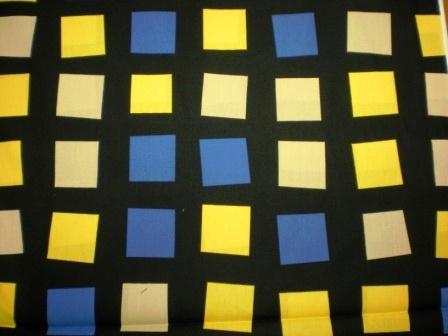Print fabric squares
