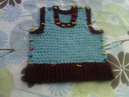Blocked baby vest
