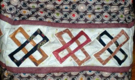 Japanese quilt purse closeup