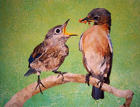 Bird posture quilt david taylor